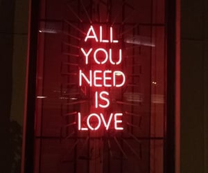 neon, red, and love image