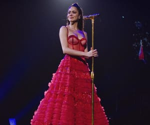 girl, red, and martina stoessel image