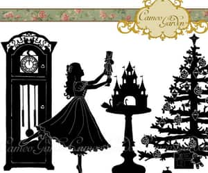 christmas tree, etsy, and Grandfather Clock image