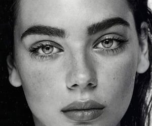 beauty, girl, and eyes image