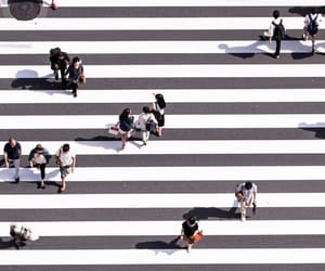 people, street, and white image
