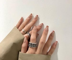 nails, inspiration, and rings image