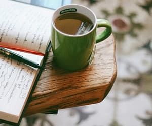 books, coffee, and photography image