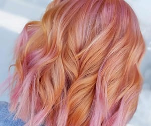 peack hair color and peach-pink hair color image