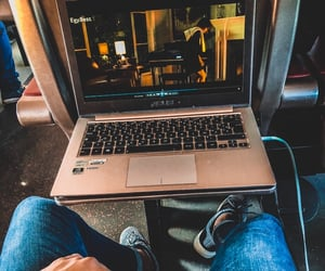 movie, pc, and train image