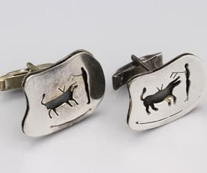 cufflinks, mens jewelry, and rodeo image