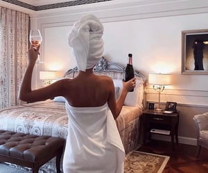 girl, champagne, and luxury image