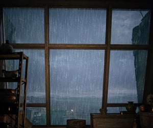 brown, downpour, and glass image