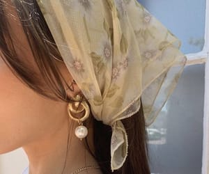 gold, jewelry, and scarf image