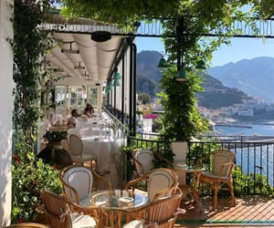 restaurant, summer, and vacation image