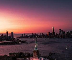 america, new york, and sky image