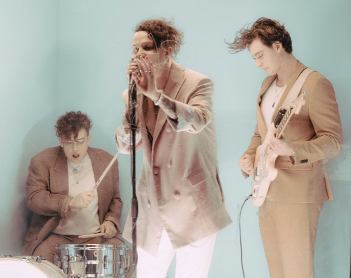 band, boys, and pastel image