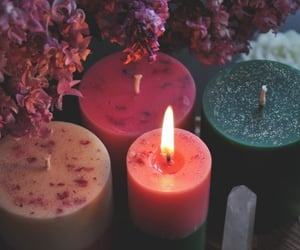 beige, candles, and colourful image