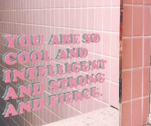 pink, quotes, and mirror image