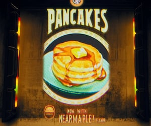breakfast, pancakes, and the outer worlds image
