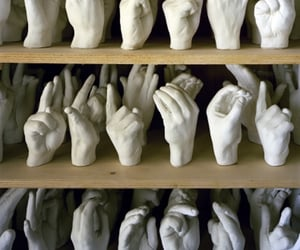 art, fingers, and hands image