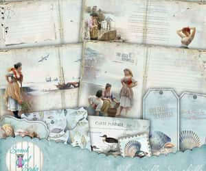 etsy, ocean, and junk journal image