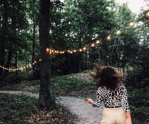 curls, girl, and green image