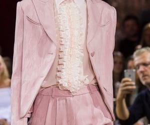 fashion, pink, and runway image