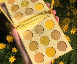 flowers, makeup, and yellow image