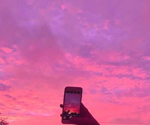 pink, beauty, and sky image