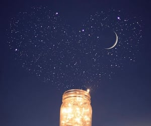 light, moon, and stars image