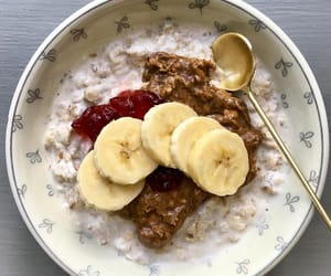 banana, breakfast, and oats image