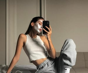 mask, relax, and iphone image