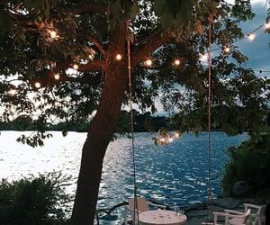 sea, light, and summer image