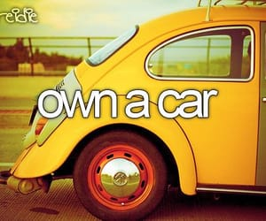 before i die, car, and yellow image