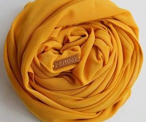 beauty, headscarf, and yellow image