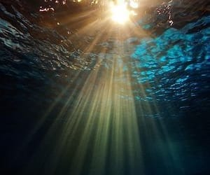 water, sea, and sun image