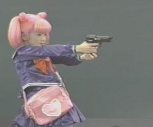 aesthetic, gun, and pink image