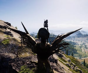 Assassins Creed, overlook, and statue image