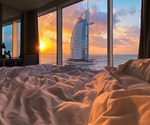 view, Dubai, and sunset image