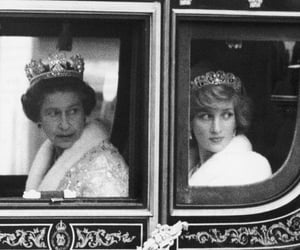 lady di, queen elizabeth, and the queen image