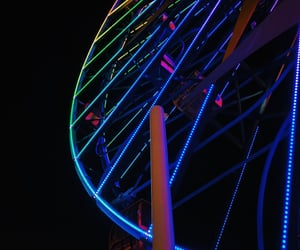 black, cold, and ferris wheel image