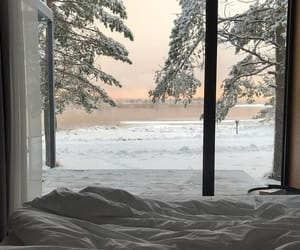 winter, bedroom, and snow image