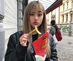 aesthetic, asian, and bangs image