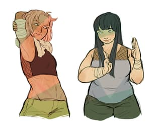 sakura haruno, naruto girls, and hinata hyuga image