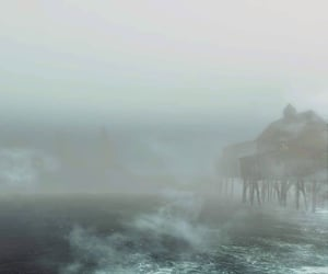 disappearing, ocean, and dock image