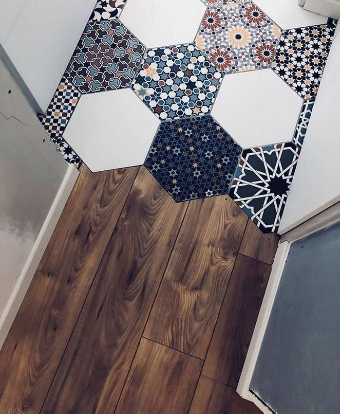 home, interior, and tiles image