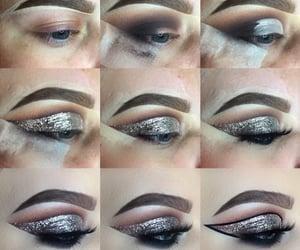 beauty, eyebrows, and eyeshadow image