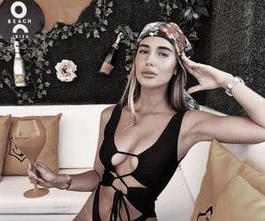 bandana, champagne, and chic image