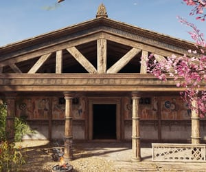Assassins Creed, cherry blossoms, and brown image