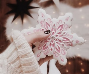 christmas, cookie, and pink image