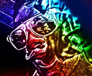 colors, lsd, and selfie image