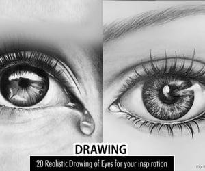 art, drawings, and pencil drawings image