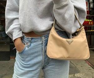 bag, designer, and denim image
