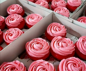 beauty, cake, and cupcake image
